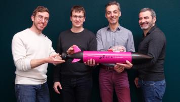 (De gauche à droite) Clément Nicolas, Quentin Peyregne, Julien Cau et Vidal Teixeira créent Seaber, industrie maritime innovante