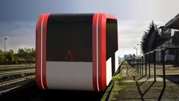 Taxirail, un nouveau concept de transport ferroviaire intelligent, composé de modules autonomes.