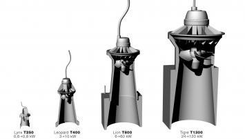 Turbiwatt propose trois gammes de turbines à usage professionnel, conçue autour de trois diamètres différents qui permettent de couvrir la quasi-totalité du potentiel hydroélectrique pour des chutes d'eau de 1,20 m jusqu'à 8 m de hauteur et des débits de 90 litres à plus de 3600 litres/seconde.