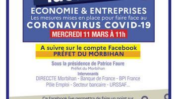 La préfecture du Morbihan organise un Facebook Live pour informer sur le Coronavirus/Covid19