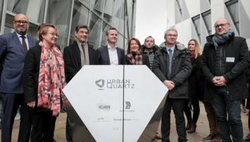 inauguration du complexe immobilier Urban Quartz à proximité de la gare de Rennes