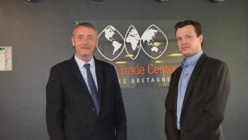 Brian Murphy (à g ), délégué à la Franco-British Chamber en charge de la Bretagne et des îles Anglo-Normandes et Nicholas Beaty, Coordinateur réseau WTC Rennes Bretagne
