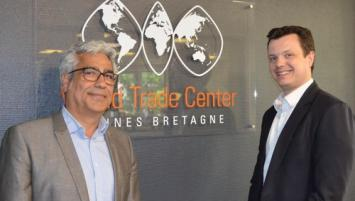 Vajiollah Mahabadi et Nicolas Beaty co-animent le World Trade Center Rennes Bretagne