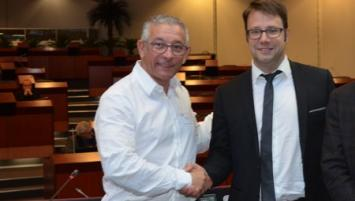 Mario Piromalli et Loïg Chesnais Girard