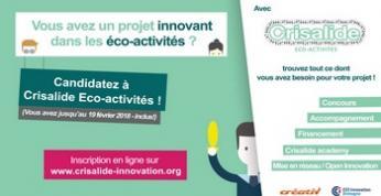 Accélérez le développement de votre projet éco-innovant  en participant à Crisalide Eco-activités !