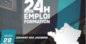 Le salon 24H pour l'Emploi et la Formation revient à Rennes le mardi 28 septembre 2021