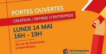 Le pôle création / reprise d'entreprise de la CCI 22 ouvre ses portes le lundi 14 mai 2018 à Saint-Brieuc