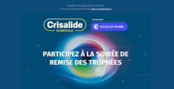 Le 7 novembre, participez à la cérémonie de la remise des trophées Crisalide Numérique