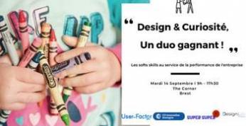 Le 14 septembre à Brest : comment éveiller et cultiver la curiosité dans un contexte professionnel en s'appuyant sur les outils du design ?