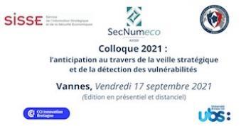 SECNUMECO 2021 : Le colloque sur la veille stratégique et la sécurité numérique aura lieu à Vannes