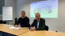 Stéphane Paul, PDG H2X à gauche et Régis Sicard, Directeur territorial d'Enedis Finistère à droite