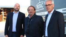 Xavier Le Roux et Thierry Bergerault directeurs Protac et Michel Rose, PDG groupe Rose