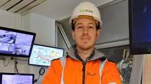 Alban Saintdenis, nouveau responsable de l'usine de valorisation énergétique de déchets Suez, à Carhaix