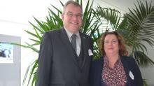 Eric Beaty ,attaché commercial au Consulat des Etats-Unis pour le Grand Ouest et Marie-Anne Denis, Directrice de la communication d'Ama
