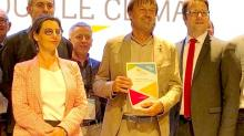de g à d : Laurence Fortin, Nicolas Hulot et Loïg Chesnais-Girard