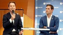 Daniel Gallou, Président de Breizh Up et Martin Meyrier, Vice président en charge de l'économie à la Région