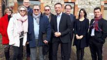 Membres de la famille Legrand ( Joseph Legrand, Maryvonne Chabbert , Christine Legrand et Jean-Noël Legrand) et ses conseils ( Nathalie Le maux associée du cabinet Fidal et Bruno Gloaguen, associé du cabinet Gloaguen et associés) ainsi que les représentants d'Eurovia