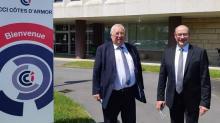 Thierry Troesch, président de la chambre de commerce et d'industrie des Côtes-d'Armor et Stéphane Drobinski, directeur de la CCI,