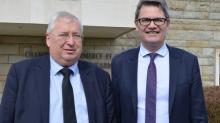 Thierrey Treosch et David Derré , respectivement Président et directeur général de la CCI 22