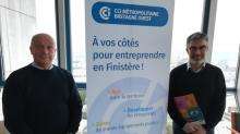 Pascale Leclaire, responsable Cybersécurité/RGPD chez Prorisk et Pierre-Yves Le Gall, directeur du centre de formation langues, tertiaire et informatique à la CCIMBO.