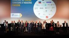 Les vingt signataires du contrat Territoire d'industrie Finistère