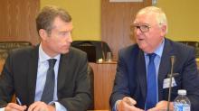 Christophe Mirmand, préfet de la région Bretagne et Jean-François Garrec, Président de la CCI Bretagne