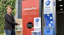 Laure Dubois, Dirigeante de l'agence Coqueliko à Lannion, lance 4 modèles de bornes pour gels hydroalcoolique