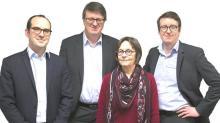 Le Groupe familial Corectec , basé à Liffré est présidé par Daniel Le Corre (2ème à g) et dirigé par son fils Yann Le Corre