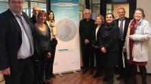 Le 27 février dernier, les acteurs du développement économique sont venus à la rencontre de la société Cristalens Industrie et de leurs dirigeants Alain Brocq (le Président) et Christian Delage (le Directeur Général)
