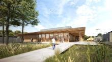 Le bâtiment, d'une surface utile de  2 630 m² répartis sur 2 niveaux auxquels s'ajoutent 1 300 m² d'aménagements extérieurs, accueillera 328  étudiants en formation initiale ou continue.