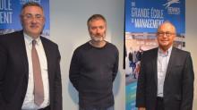 de g à d : Thomas Froehlicher, Directeur de Rennes School of business, Brice Rocher, PDG du Groupe Yves Rocher et François Châtel, Président de Rennes School of Business