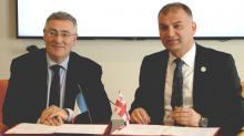 Thomas Froehlicher, Directeur Général et Doyen de Rennes School of Business et Kakha Shengelia, Président de l'Université du Caucase