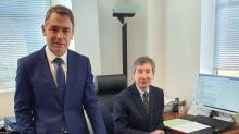 Gilles Henrio Président du Tribunal de Commerce ,et Maitre Paty Greffier