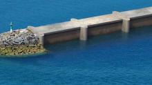 DIKWE est un projet d'ouvrage de protection du littoral qui intègre un système de production d'énergie renouvelable