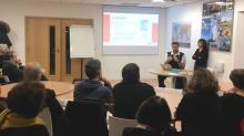 Soirée conviviale des parrains/marraines en novembre 2018 avec l'intervention de pascal Thibault, coach URB  et Marick Fèvre de MBA Mutuelle