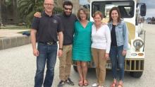 de g à d : Bruno Darsel, Maxence Moreau, Ruth Hercelin, Fabienne Moreau et Marie Mitteul
