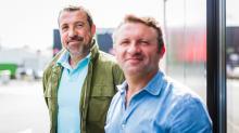 Arnaud Monnier (à g) et Olivier Chaudet, cogérants du Groupe Valeor basé dans les Côtes d'Armor