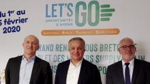 de g a droite : Rolf Beyer Directeur génral De BSL, Serge Rambault, Président se Bretagne Supply Chain et Eric Godefroy , Délégué régional Bretagne de l'AFT