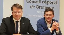 Loïg Chesnais-Girard et Martin Meyrier, respectivement Président et Vice président de la Région Bretagne