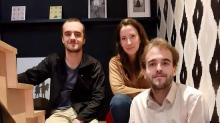 De g à d : Tom Richer, Clémence Mirgualet et Samuel Richer, co-fondateurs d'Octobot consulting à Lannion