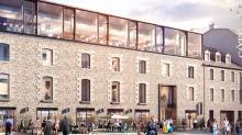 L'ancien Hôtel de la Monnaie à Rennes, en cours de réhabilitation proposera en 2023, une douzaines de nouveaux commerces