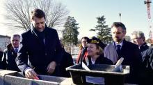 En visite à Rennes ce lundi 20 janvier, le Ministre de l'intérieur, Christophe Castaner, a lancé les travaux du chantier de la future préfecture d'Ille-et-Vilaine., en présnce de Michèle Kirry, la Préfète.