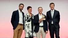 Frédéric Guémas, dirigeant de Publicgraphic, lors de la remise des prix Generali