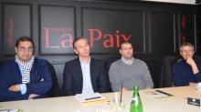 Rebond 35 : de g à d : Karim Essemiani, Jean-Charles Charrier, Sébastiien ( entrepreneur soutenu par l'association) et Jean-Loup Péguin