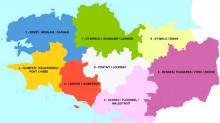 Les 8 territoires de santé en Bretagne