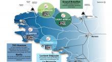 Avec l'arrivée de la Ligne à Grande Vitesse, les agglomérations de Saint-Brieuc, Lannion, Lorient et Quimper investissent et engagent depuis plusieurs années des projets de renouvellement urbain importants