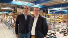 Vincent Roudaut, Directeur opérationnel de Sterenn&Co à la Mézière et Gérald Jehannin, Directeur logistique