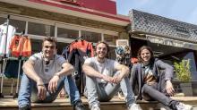 La team zeus : de g à d droite, Martin Goessant , Gaspard Voituriez et Elliot Voituriez
