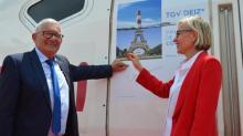 Gerard Lahellec et Gwendoline Cazenave inaugure la nouvelle rame Océane