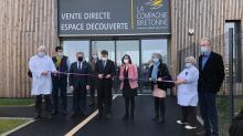 Inauguration de l'usine La Compagnie bretonne à Penmarc'h, par Breizh Immo